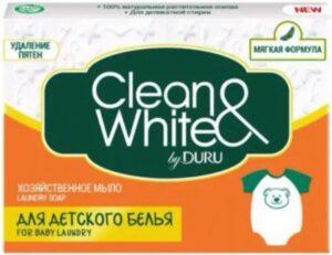 DURU Хозяйственное мыло Clean&White для детского белья 125гр