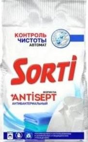 Sorti Порошок стиральный без Хлора Антибактериальная формула Antisept 2.4кг