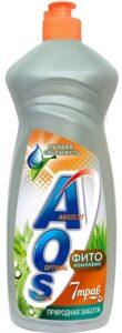 AOS cредство для мытья посуды Природная забота 7 трав 900гр