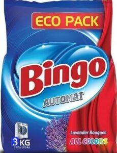 BINGO Порошок стиральный автомат ALL COLORS 3кг