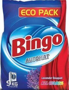 BINGO Порошок стиральный автомат ALL COLORS 9кг