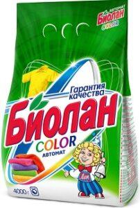 Биолан порошок стиральный Авт Color пак 4кг