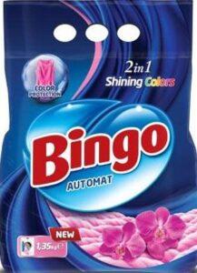 BINGO Порошок стиральный Автомат SHINING COLORS 1.35кг