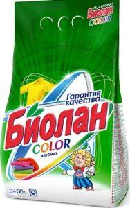 Биолан порошок стиральный Авт Color пак 2,4кг