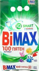 BiMax порошок стиральный Авт 100 ПЯТЕН пак 1.5кг