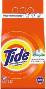 TIDE Порошок стиральный авт Альпийская свежесть 3кг