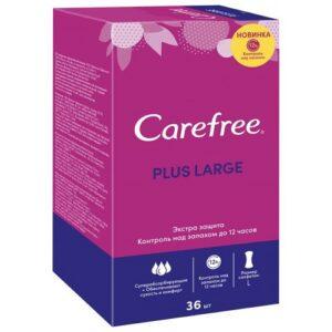 Carefree ежедневные прокладки Plus Large с ароматом Свежести 36шт