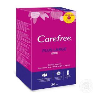 Carefree ежедневные прокладки Plus Large Fresh с ароматом Свежести 36шт