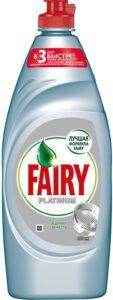 FAIRY Platinum Средство для мытья посуды Ледяная Свежесть 900мл