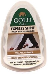 Gold Care губка-блеск для обуви Express Shine 1шт