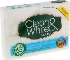 DURU Хозяйственное мыло Clean&White 2х125гр