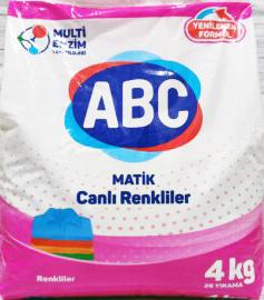 ABC Порошок для стирки авт Color 4кг