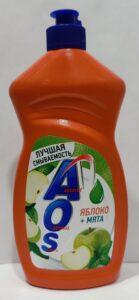 AOS cредство для мытья посуды Яблоко Мята 450гр