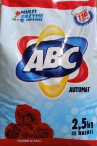 ABC Порошок для стирки авт Passion of Rose 2.5кг