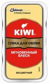 KIWI Экспресс губка для обуви без дозатора Бесцветная 1шт