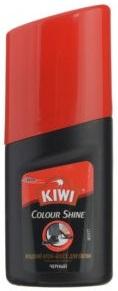 KIWI жидкий крем-блеск для обуви черный 50мл