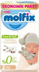 MOLFIX Pure&Soft Подгузники детские (3-6кг) №2 Mini 64шт