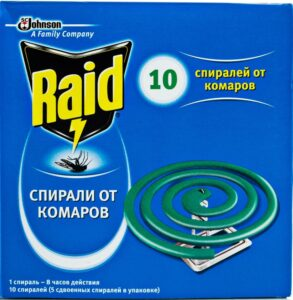 Raid Спираль от комаров 10шт