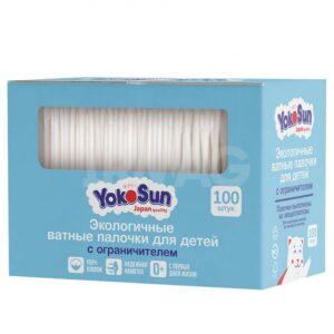 YokoSun ватные палочки для Детей Экологичные с Ограничителем 100шт