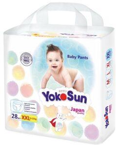 YokoSun подгузники-трусики (15-23кг) XXL 28шт