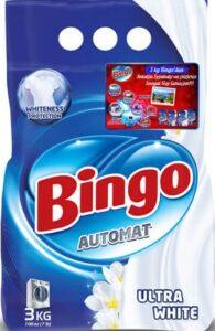 BINGO Порошок стиральный автомат ULTRA WHITE 3кг