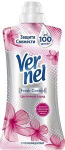 Vernel кондиционер для белья СУПРЭМ Fresh Control Цветочный заряд 600мл