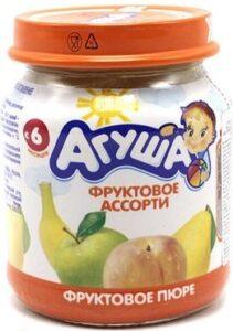 Агуша Пюре фруктовое Ассорти банка 115мл