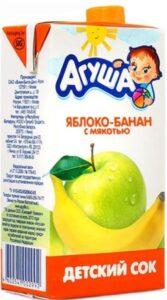 Агуша Сок детский Яблоко Банан с мякотью 500мл