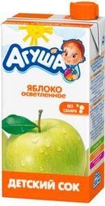 Агуша Сок детский Яблоко осветлённый 500мл