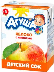 Агуша Сок детский Яблоко с мякотью 200мл