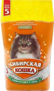Сибирская Кошка наполнитель Впитывающий Бюджет 5л