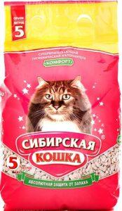 Сибирская Кошка наполнитель Впитывающий Комфорт 5л