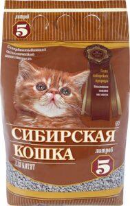 Сибирская Кошка наполнитель для котят Впитывающий 5л