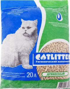 Сибирская Кошка наполнитель Catlitter Древесный 20кг