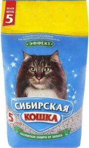 Сибирская Кошка наполнитель Впитывающий Эффект 5л