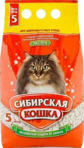 Сибирская Кошка наполнитель Впитывающий Экстра 5л