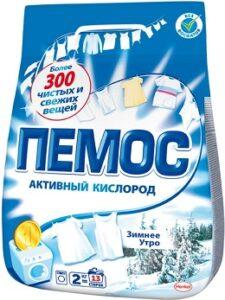 ПЕМОС Порошок стиральный ЗИМНЕЕ УТРО 2кг