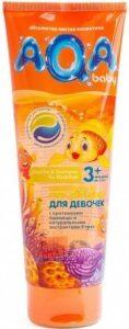 AQA шампунь и гель для гуша Детский для Девочек с экстрактом Трав и Протеинами пшеницы 250мл