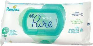 PAMPERS Детские влажные салфетки Aqua Pure 48шт