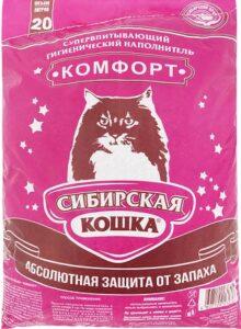 Сибирская Кошка наполнитель Впитывающий Комфорт 20л