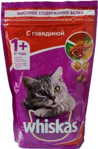 Whiskas кошачий корм с Говядиной пак. 350гр