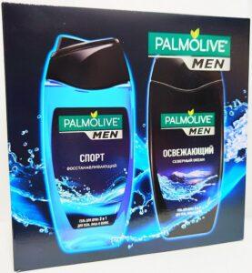 Подарочный Набор Palmolive Men гель для душа 3в1 Спорт и Северный океан