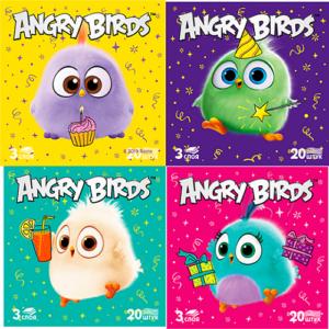 Angry Birds салфетки столовые 3 слойные 20шт