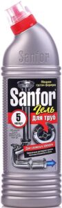 SANFOR средство для чистки канализационных труб 500мл