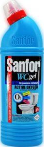 SANFOR средство для уборки ванной и туалета WC gel Active Oxygen Ледниковая свежесть 750гр