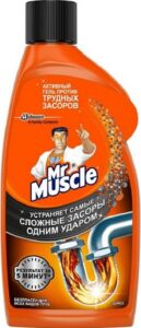 Mr.Muscle Гель для чистки сливных труб 500мл