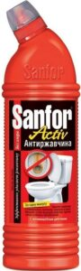 SANFOR ACTIV средство для чистки и дезинфекции Антиржавчина 1000мл