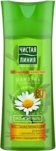 Чистая линия Шампунь Восстанавливающий с Ромашкой и Репейным маслом 250мл