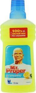 MR PROPER Моющая жидкость для полов и стен Лимон 500мл