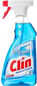 Clin Чистящее средство 2в1 для стеклянных поверхностей Кристалл 500мл